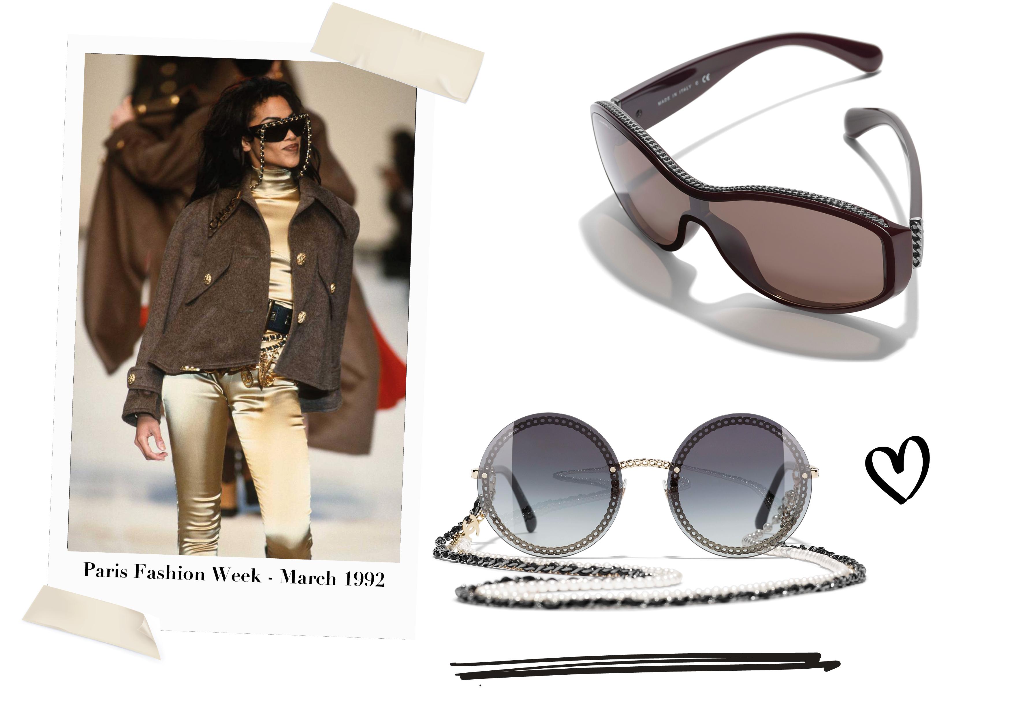 Chanel lente/zomer 2019: De comeback van de 'chain' brillenketting - optiek Lammerant